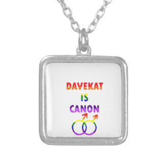 Davekat Is Canon (v2) Silver Plated Necklace