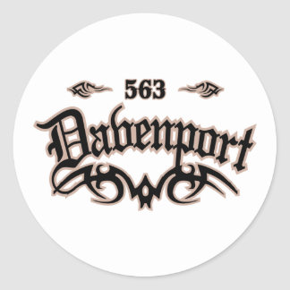 Davenport 563 classic round sticker