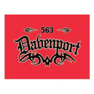 Davenport 563 tarjeta postal
