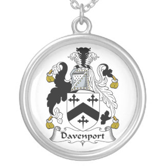 Davenport Family Crest Silver Plated Necklace
