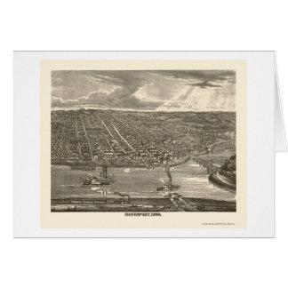 Davenport, IA Panoramic Map - 1875a Card