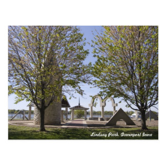 Davenport, Iowa - el parque de Lindsay esculpe la  Postales