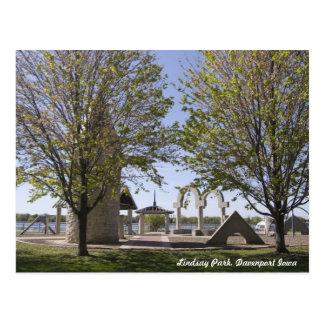 Davenport Iowa - Lindsay Park Sculptures Postcard