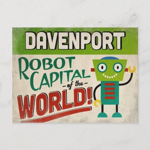 Davenport Iowa Robot - Funny Vintage Postcard