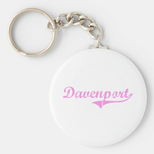 Davenport Last Name Classic Style Keychains