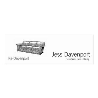 Davenport or Sofa Mini Business Card
