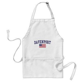 Davenport US Flag Adult Apron