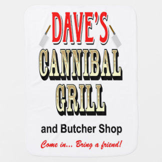 DAVE'S CANNIBAL GRILL STROLLER BLANKET