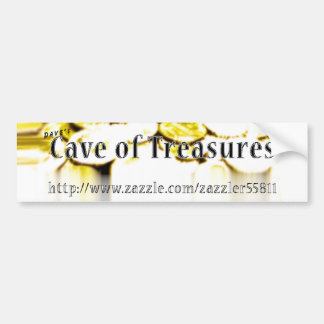 Dave's Cave of Treasures Ad Bumpersticker Bumper Stickers