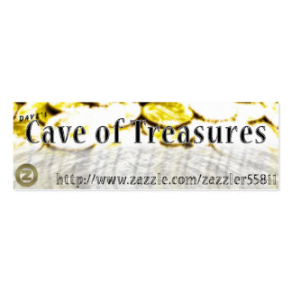 Dave's Cave of Treasures Double-Sided Mini Business Cards (Pack Of 20)