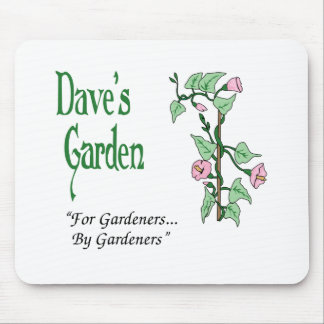 Dave's Garden mouse pad