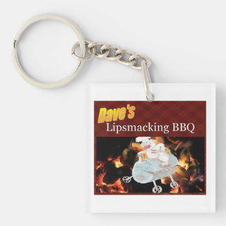 Dave's Lipsmacking BBQ keychain