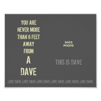 DAVE's Poster with Photograph Template