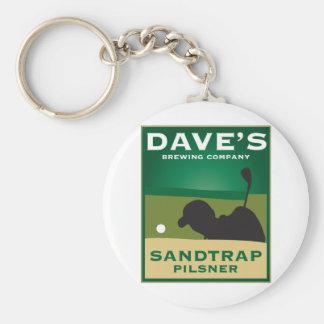 Dave's Sandtrap Pilsner Basic Round Button Keychain