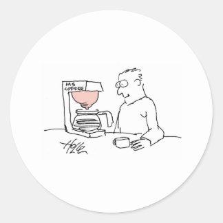 davhelle mscoffee classic round sticker