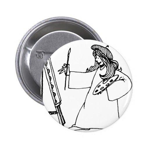 davholle artist 2 inch round button