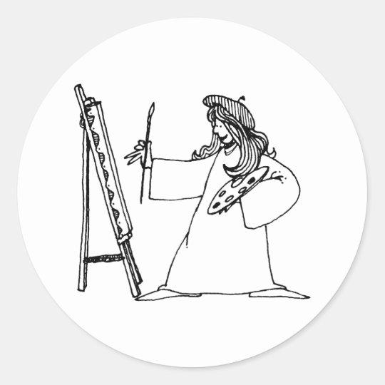 davholle artist classic round sticker