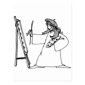davholle artist postcard