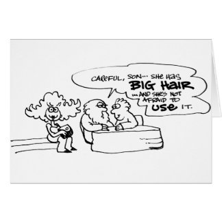 davholle big hair greeting card