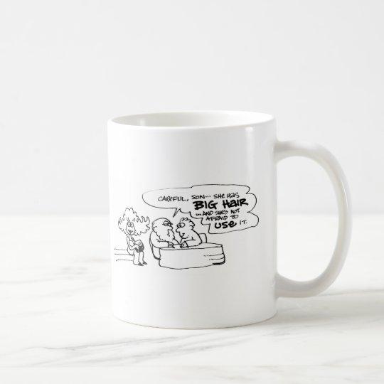 davholle big hair coffee mug
