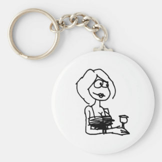 davholle girl drink key chain