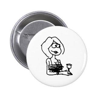 davholle girl drink pin