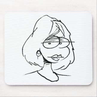 davholle girl portrait mouse mats