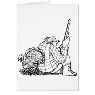 davholle hunter turkey greeting card