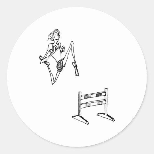 davholle hurdle classic round sticker