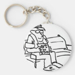 davholle out to stud basic round button keychain
