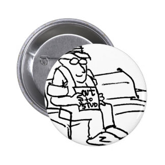 davholle out to stud pinback buttons