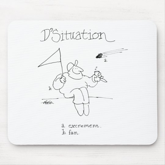 davholle situation excrement fan mouse pad