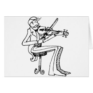 davholle violinist greeting card