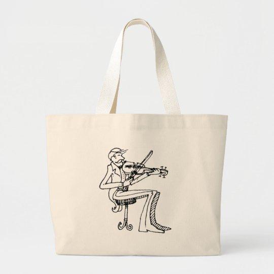 davholle violinist large tote bag