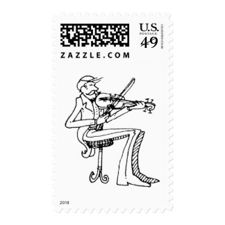 davholle violinist postage stamp