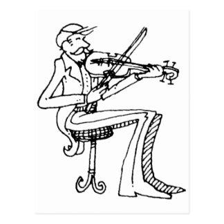 davholle violinist postcard