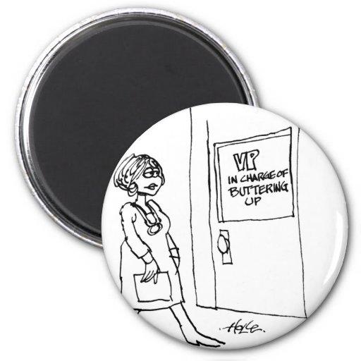 davholle vp buttering up refrigerator magnet