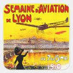 d'Aviation de Lyon de Semaine Pegatina Cuadradas Personalizada