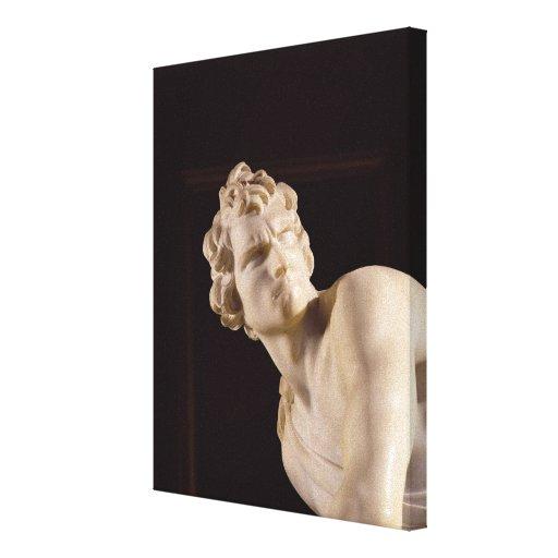David, 1623-24 (marble) (detail) canvas print