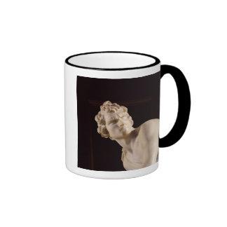 David, 1623-24 (marble) (detail) ringer coffee mug