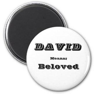 David 2 Inch Round Magnet