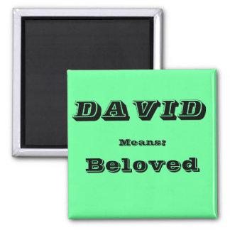 David 2 Inch Square Magnet