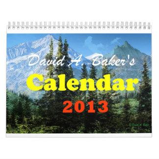 David A. Baker Art Calendar 2013