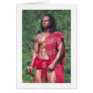 "David Adomah as ""The Afrikan"" Greeting Card"