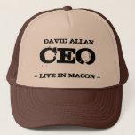 "David Allan CEO Trucker Hat<br><div class=""desc"">David Allan CEO  Live in Macon not David Allan COE</div>"