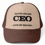 David Allan CEO Trucker Hat<br><div class='desc'>David Allan CEO  Live in Macon not David Allan COE</div>