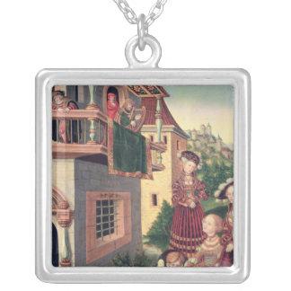David and Bathsheba, 1528 Silver Plated Necklace