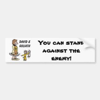 David and Goliath Bumper Sticker