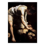 David and Goliath by Caravaggio Greeting Card