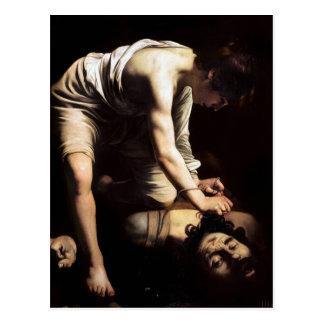 David and Goliath by Caravaggio Postcard